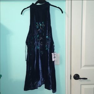 Free People NWT Jill's Sequin Mini Dress
